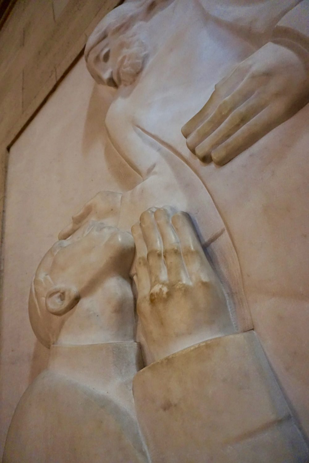 Inside Zagreb's Cathedral you'll find this bold sculpture from Mestrovic