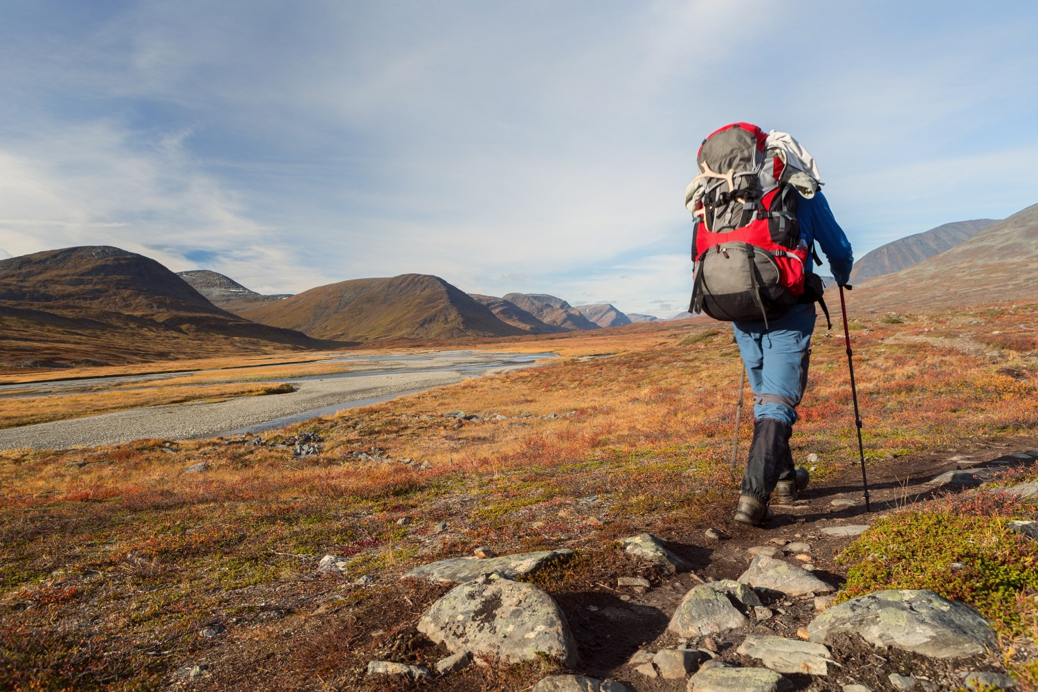 Hiking on the Kungsleden in Sweden