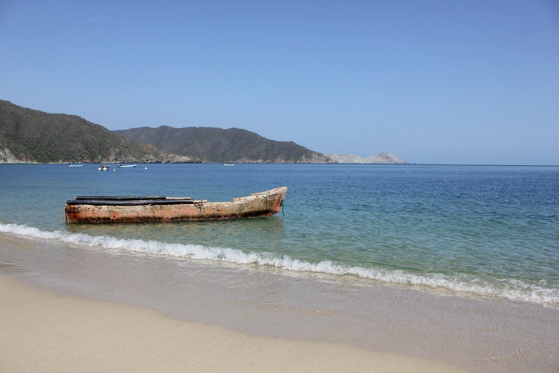 Parque National Tayrona, a beautiful Colombian beach