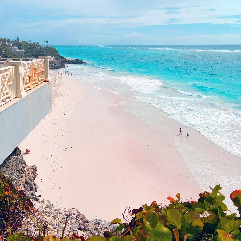 Pink Sand Blue Sea at The Crane Beach