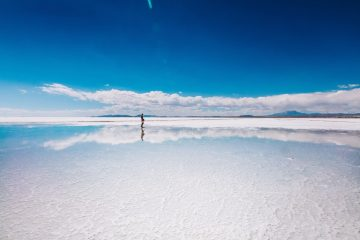 The best time to visit the Salar de Uyuni is during the rainy season
