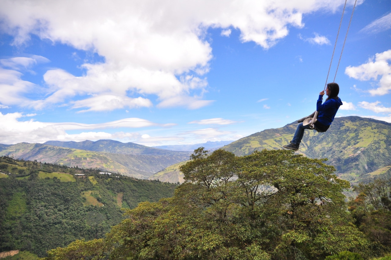 Swing into the end of the world in Ecaudor. Interesting bucket list ideas.