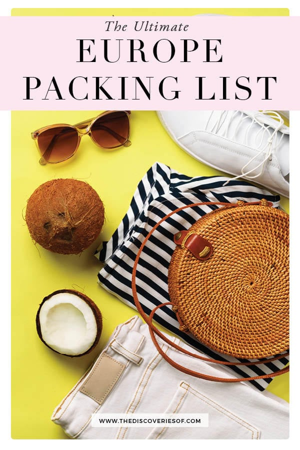 what to pack for Europe 1