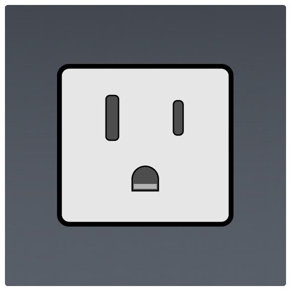 International Power Sockets Plug Type B socket