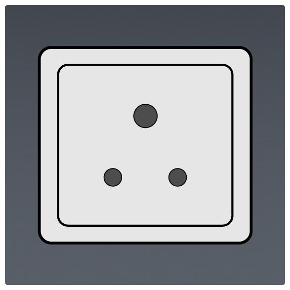 International Power Sockets Plug Type D Socket