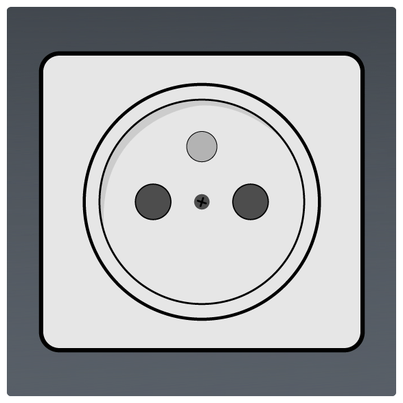 International Power Sockets Plug Type E Socket