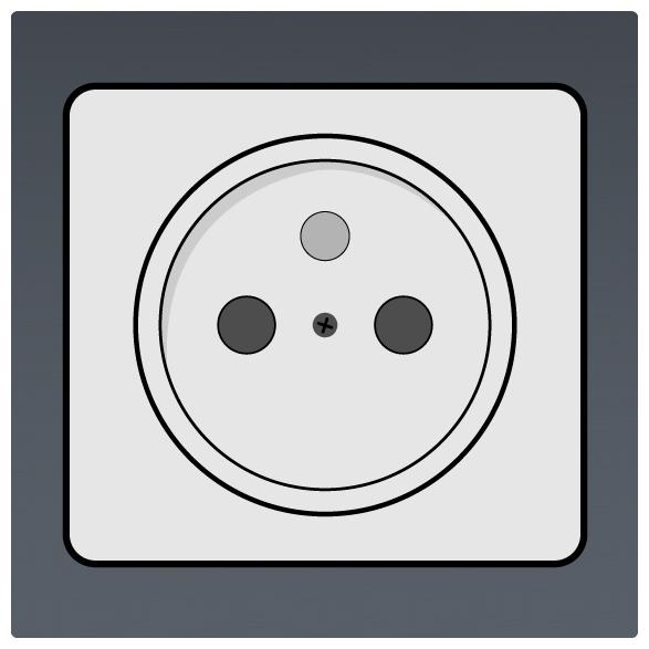 International Power Sockets Plug Type E Socket