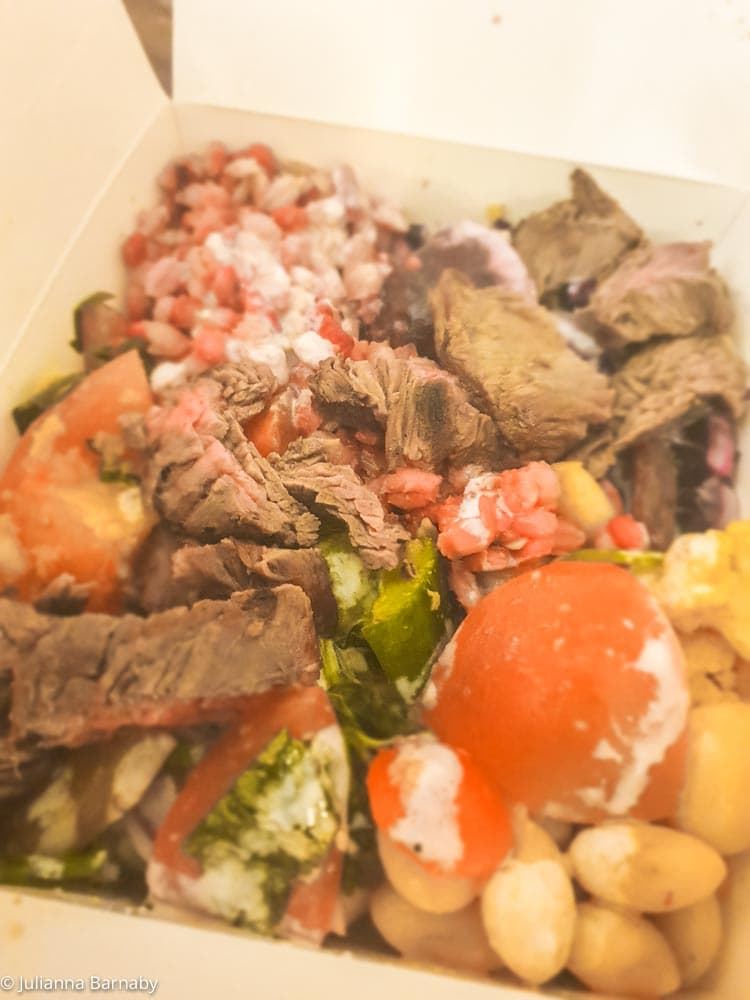 Seared Beef Salad at Savage Salads