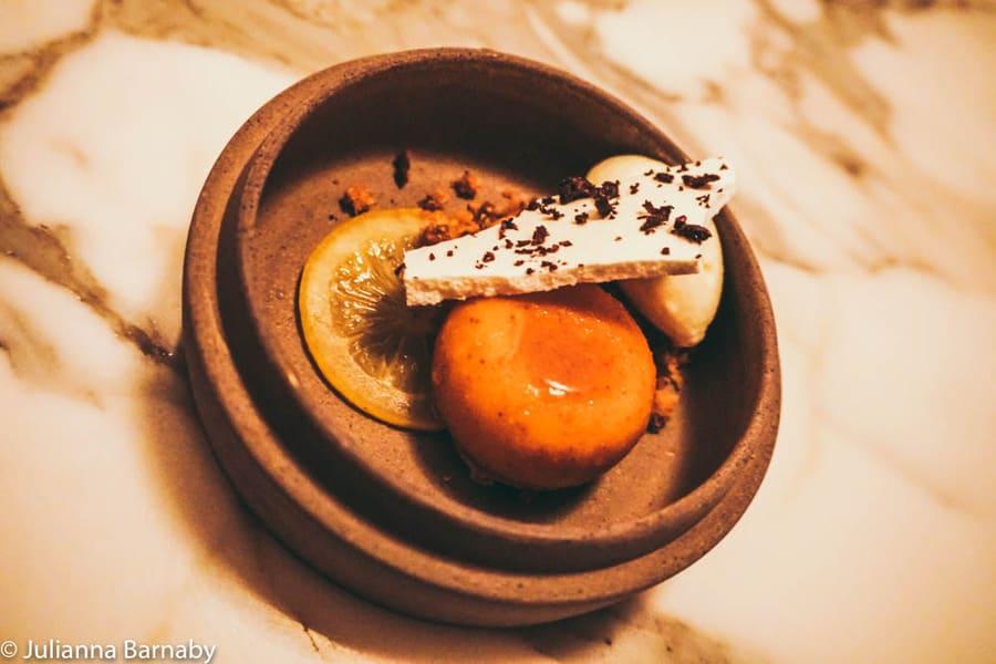 Lemon curd and kalamata olive