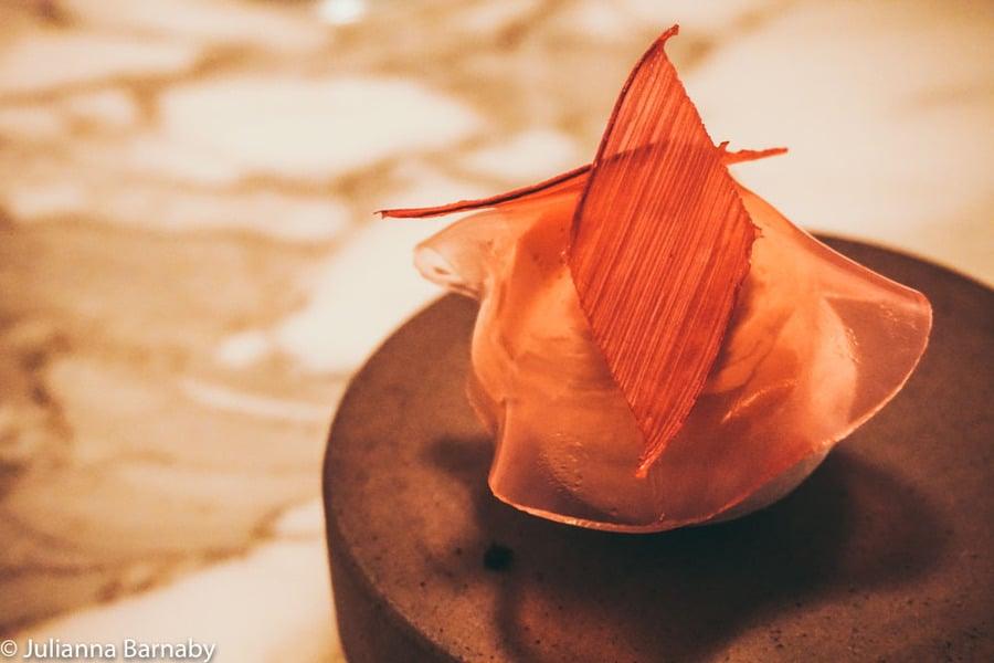 The rhubarb pavlova