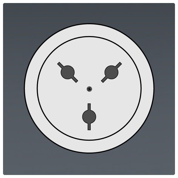 International Power Sockets Plug Type H Socket