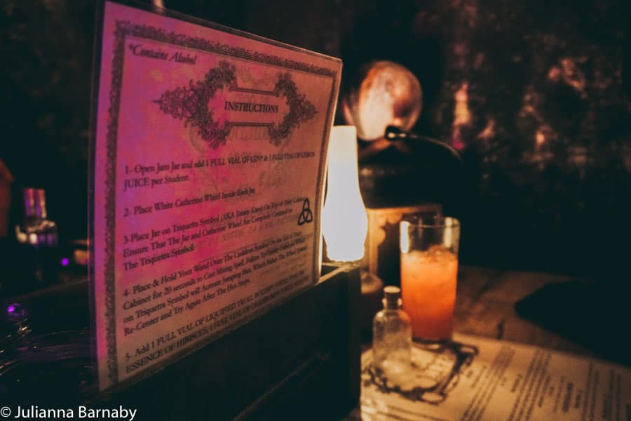 Harry Potter Cocktails at The Cauldron