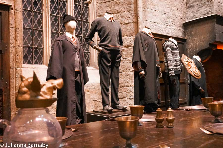 Peeking at the Uniforms in the Great Hall