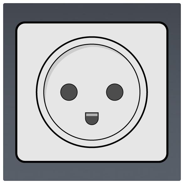 International Power Sockets Plug Type K Socket