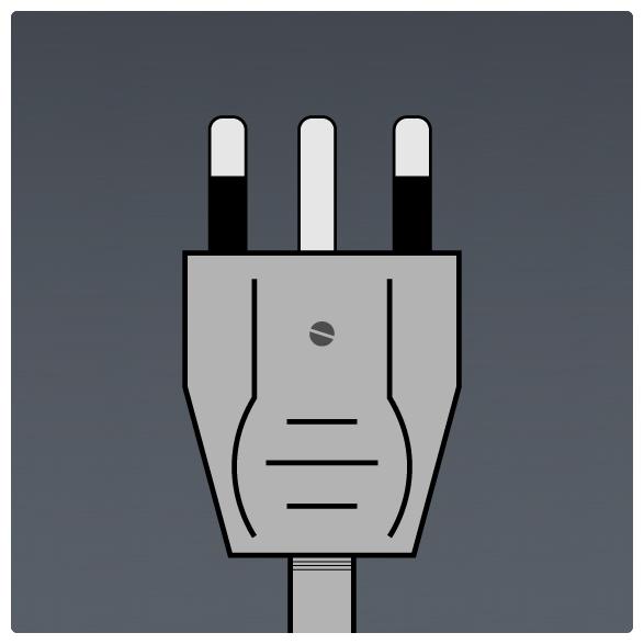 International Power Sockets Plug Type L Plug