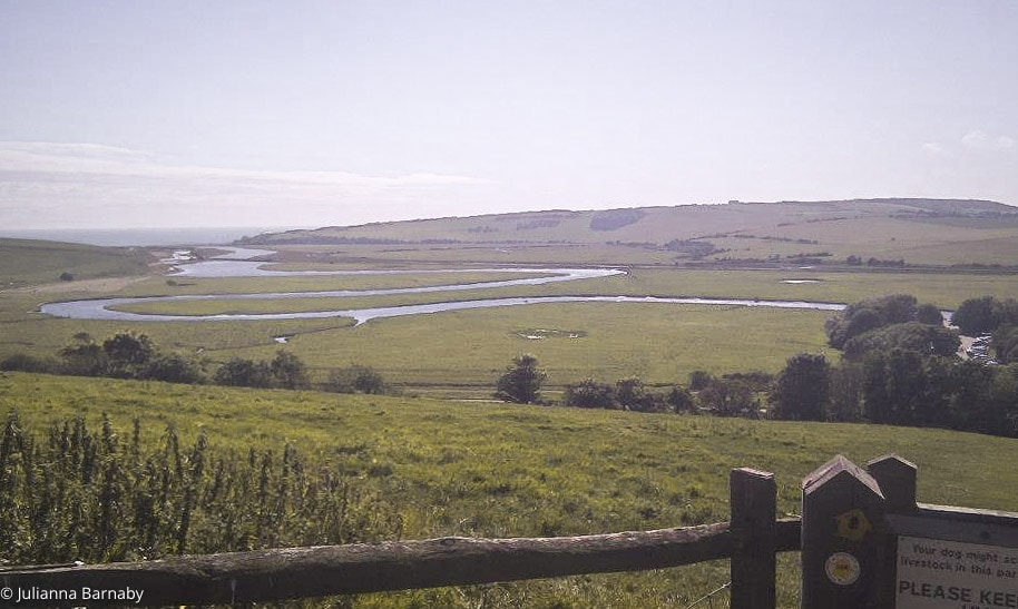 Views down to Exceat Bridge