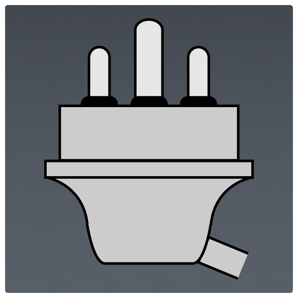 International Power Sockets Plug Type M