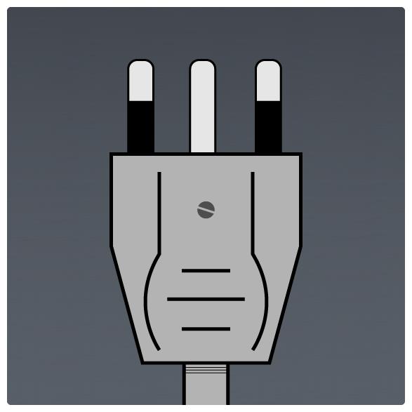 International Power Sockets Plug Type N Plug