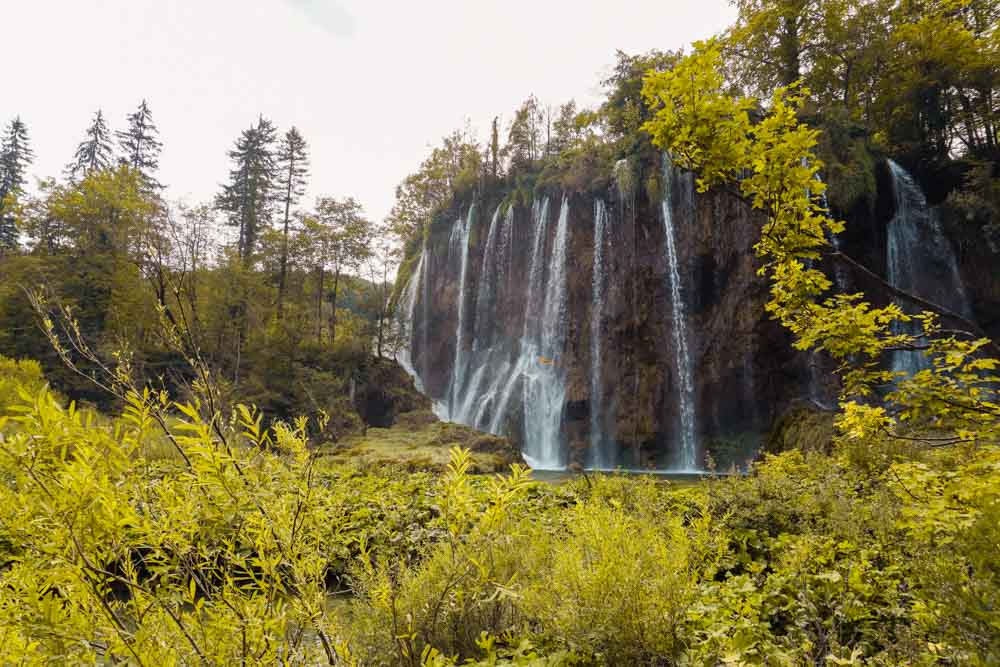 Plitvice Lakes smaller falls