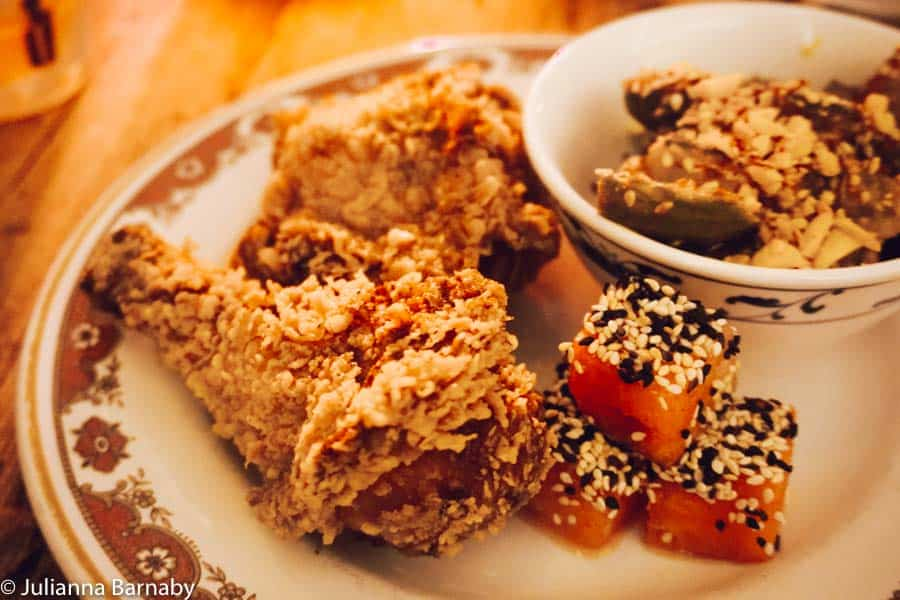 Fried chicken at Chick n Sours