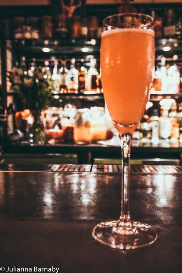 Champagne Charlie at Hawksmoor Seven Dials