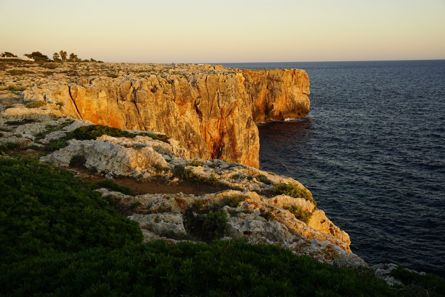 Sunset Over the Cliffs in Menorca