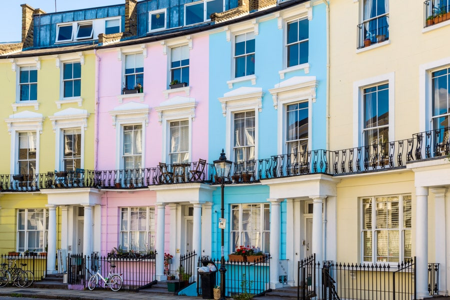 Colourful Houses in Primrose Hill