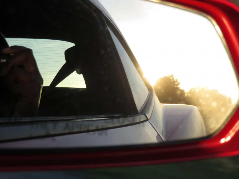 Rear view mirror in Camero