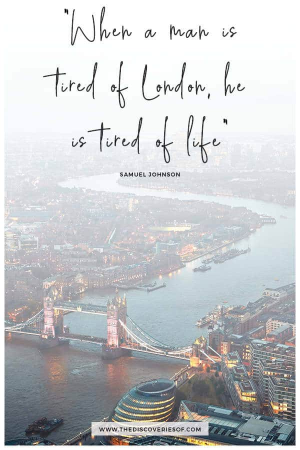 When a man is tired of London quote