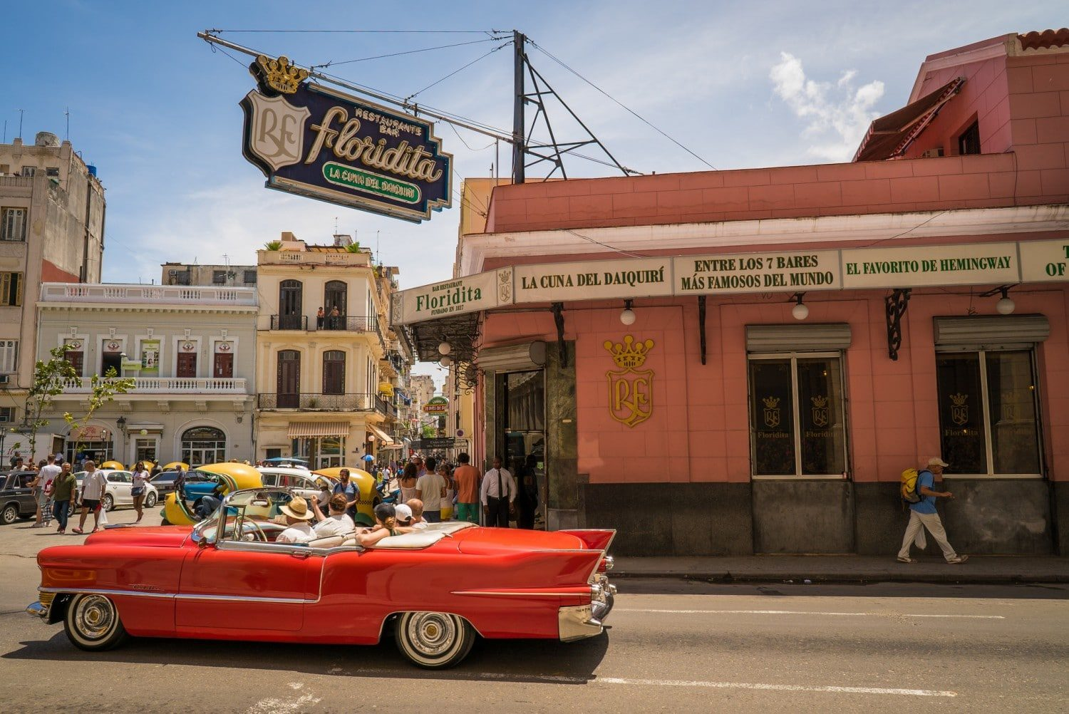 El Floridita Havana is one of the best bars in Havana and one of Hemingway's old favourite haunts