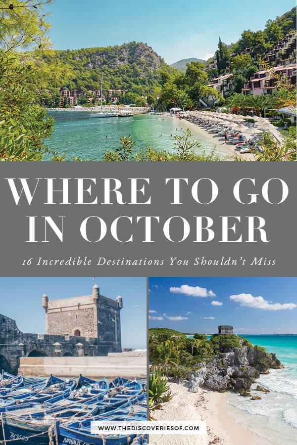 Holiday Destinations October