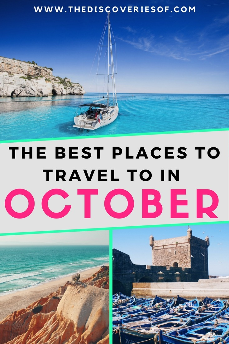 The best travel destinations and ideas for your October trip. Looking for inspiration to travel the world? These wallet friendly destinations are the ultimate October travel goals. Ideas I Tips I Bucket List #travel #fall #bucketlist