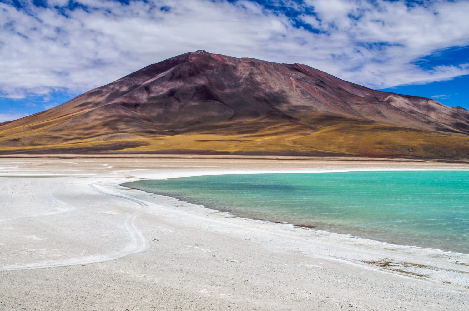 Views of Laguna Verde in Bolivia