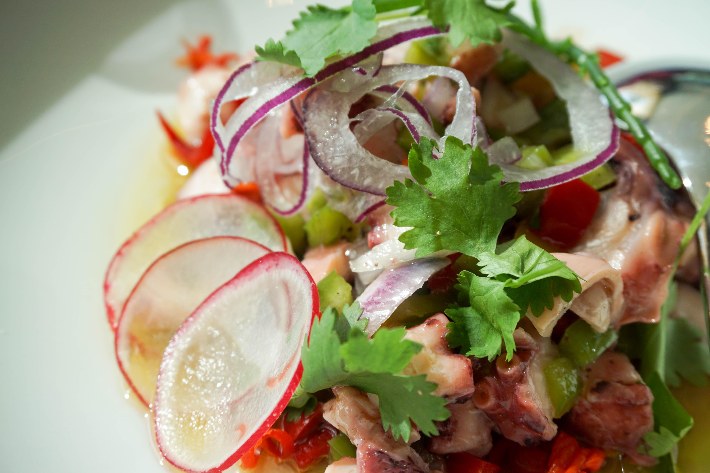 Portuguese octopus salad