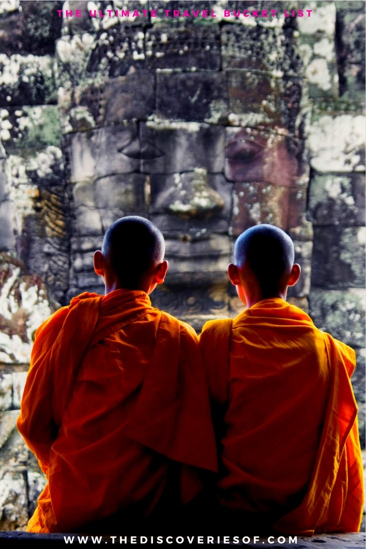 Angkor Wat, Cambodia. 100 unique travel bucket list ideas - the ultimate list of things to do and places to see in your lifetime. Read the full guide now. See the world, embrace adventure, satisfy your wanderlust. United States I England I Australia I Canada I Travel Inspiration I Photos I Dreams I Ideas #travel #bucketlist #travelinspiration #wanderlust