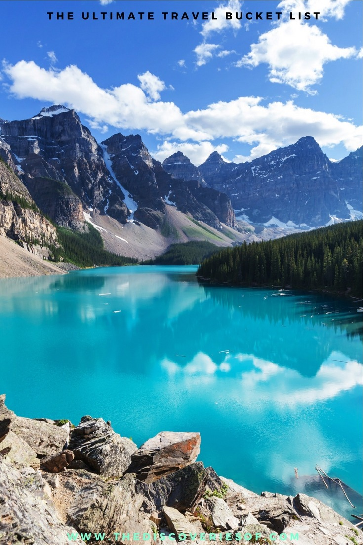 Banff, Canada 100 unique travel bucket list ideas - the ultimate list of things to do and places to see in your lifetime. Read the full guide now. See the world, embrace adventure, satisfy your wanderlust. United States I England I Australia I Canada I Travel Inspiration I Photos I Dreams I Ideas #travel #bucketlist #travelinspiration #wanderlust