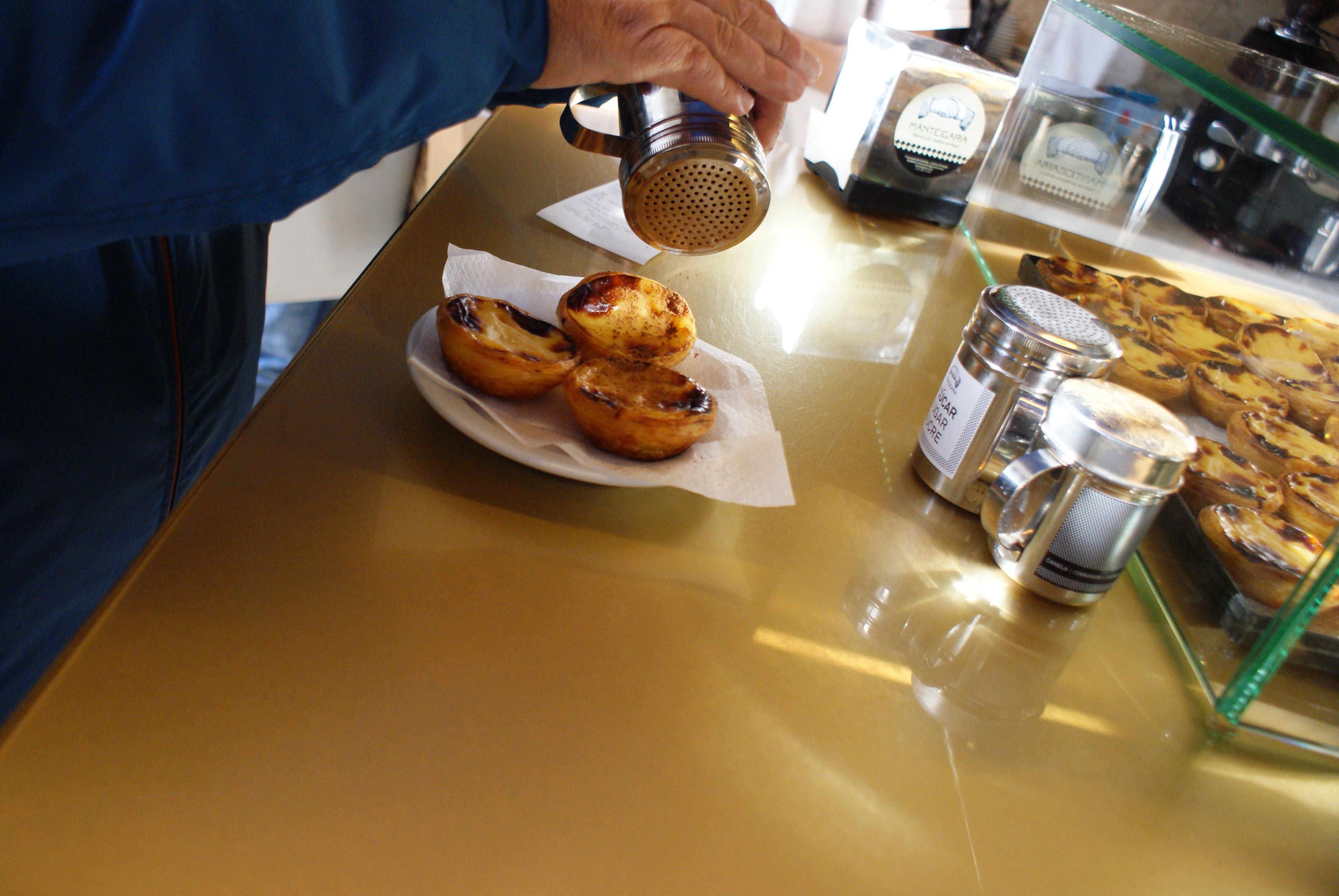 Eating Pasteis de Nata in Lisbon