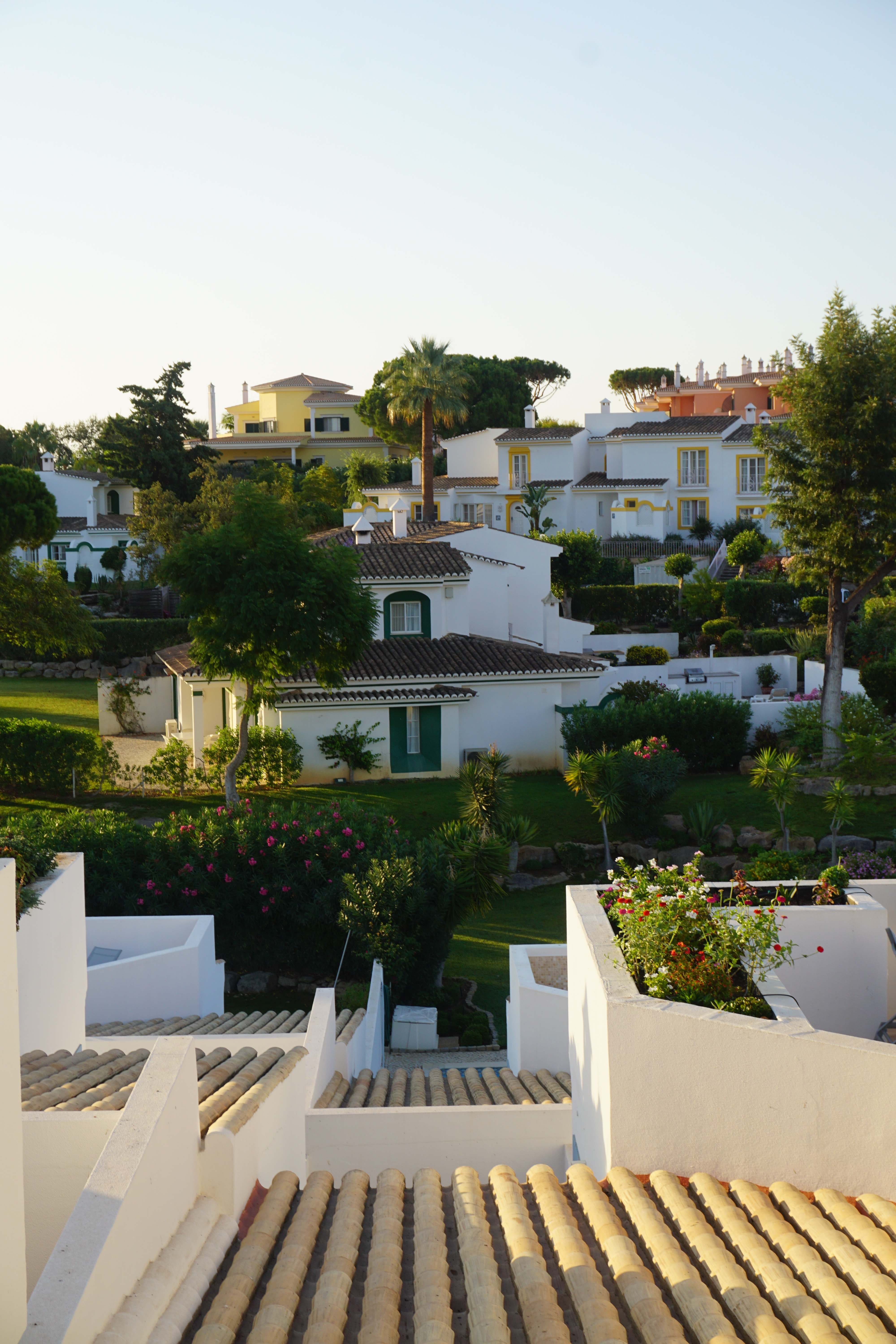 View from our terrace at the Four Seasons Fairways, the best luxury villa resort in the Algarve, Portugal