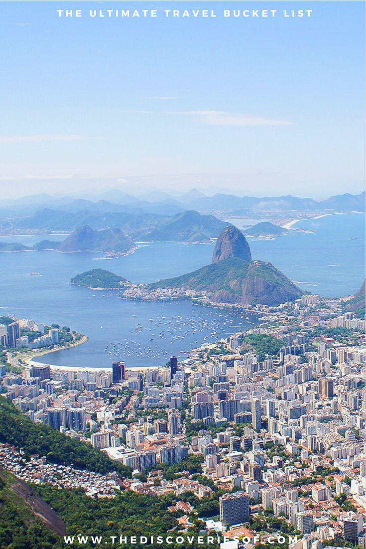Rio de Janeiro, Brazil. 100 unique travel bucket list ideas - the ultimate list of things to do and places to see in your lifetime. Read the full guide now. See the world, embrace adventure, satisfy your wanderlust. United States I England I Australia I Canada I Travel Inspiration I Photos I Dreams I Ideas #travel #bucketlist #travelinspiration #wanderlust