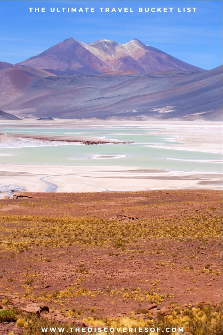 Atacama Desert, Chile. 100 unique travel bucket list ideas - the ultimate list of things to do and places to see in your lifetime. Read the full guide now. See the world, embrace adventure, satisfy your wanderlust. United States I England I Australia I Canada I Travel Inspiration I Photos I Dreams I Ideas #travel #bucketlist #travelinspiration #wanderlust