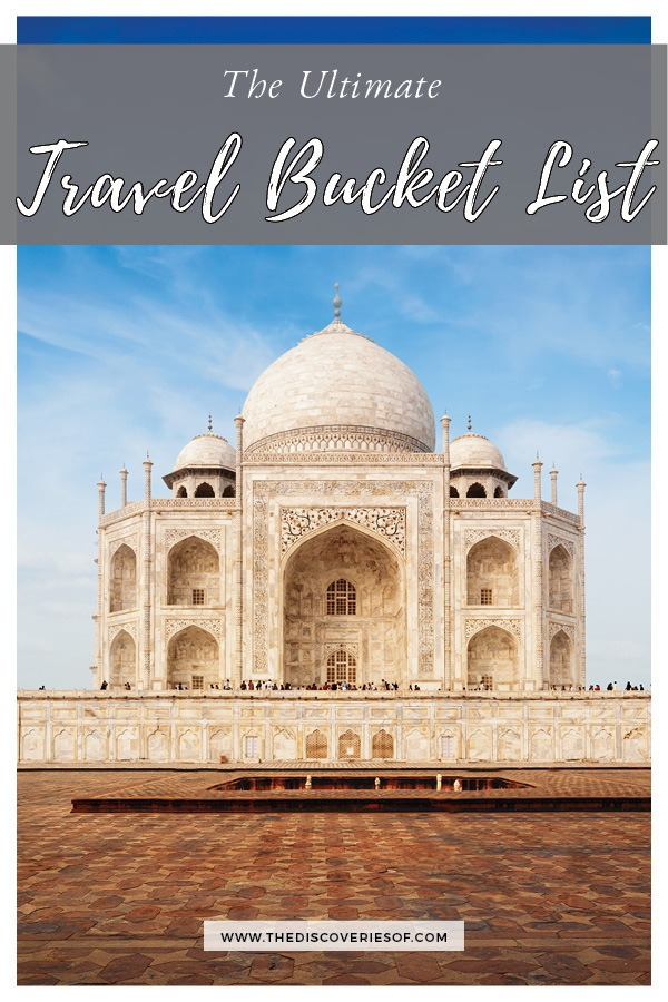 100 unique travel bucket list ideas - the ultimate list of things to do and places to see in your lifetime. Read the full guide now. See the world, embrace adventure, satisfy your wanderlust. United States I England I Australia I Canada I Travel Inspiration I Photos I Dreams I Ideas #travel #bucketlist #travelinspiration #wanderlust