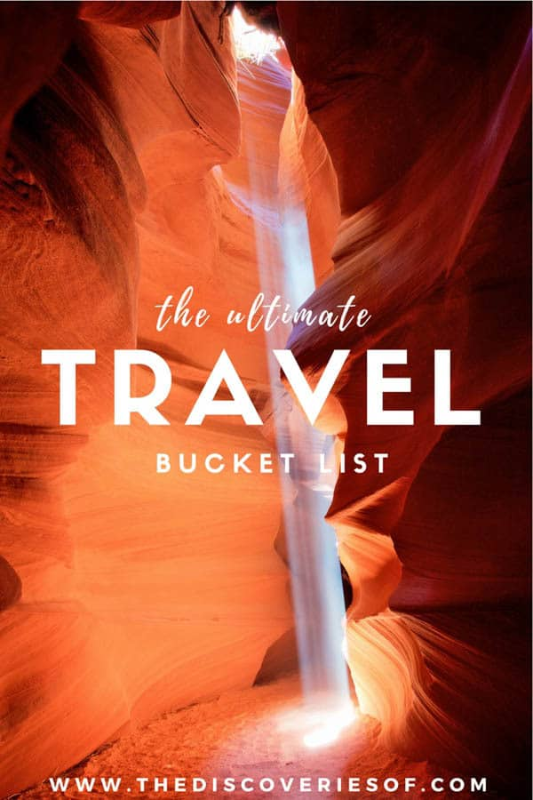 The Ultimate Travel bucket list