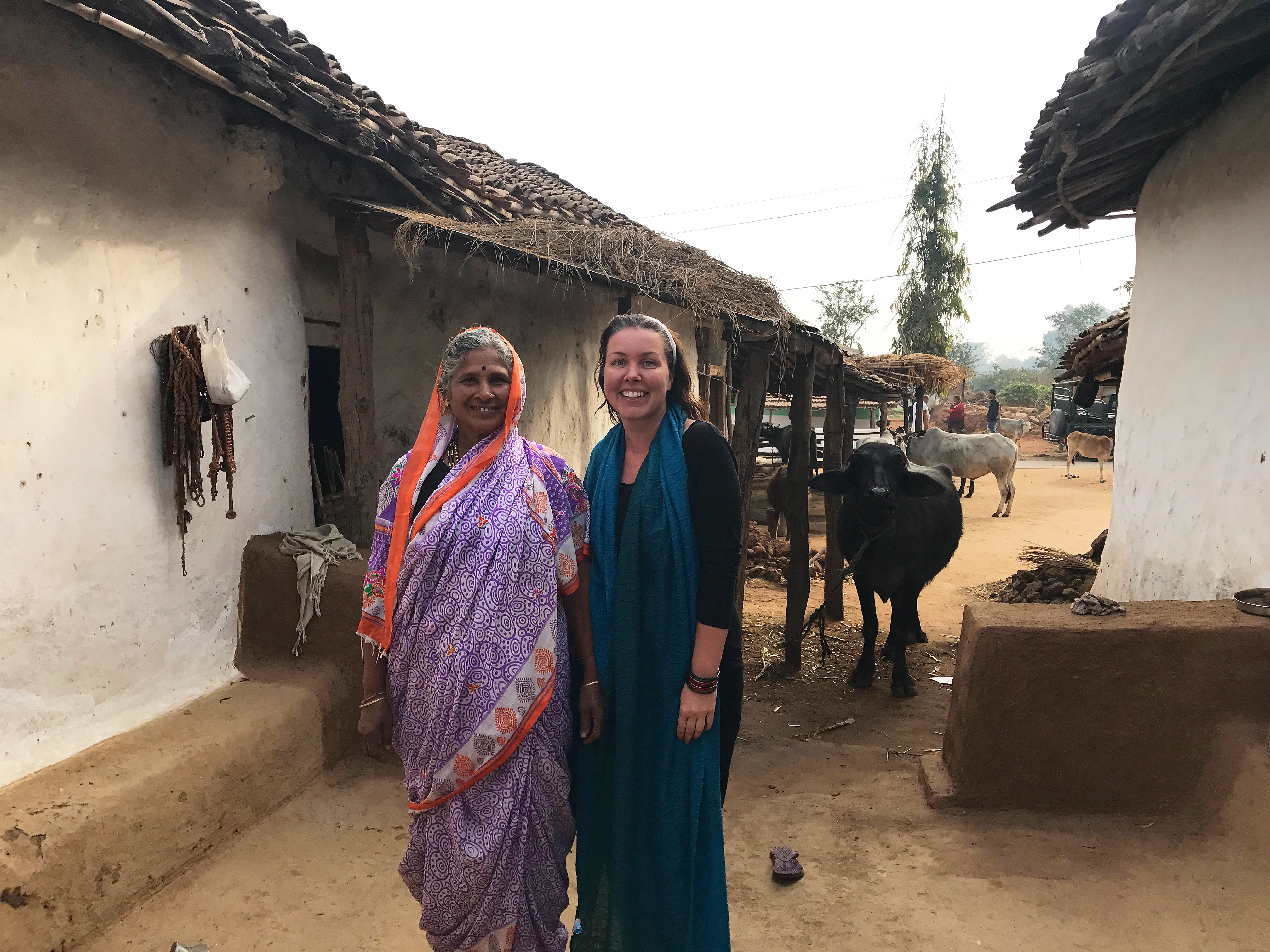 Wild Women Expeditions - India - Jennifer in local village
