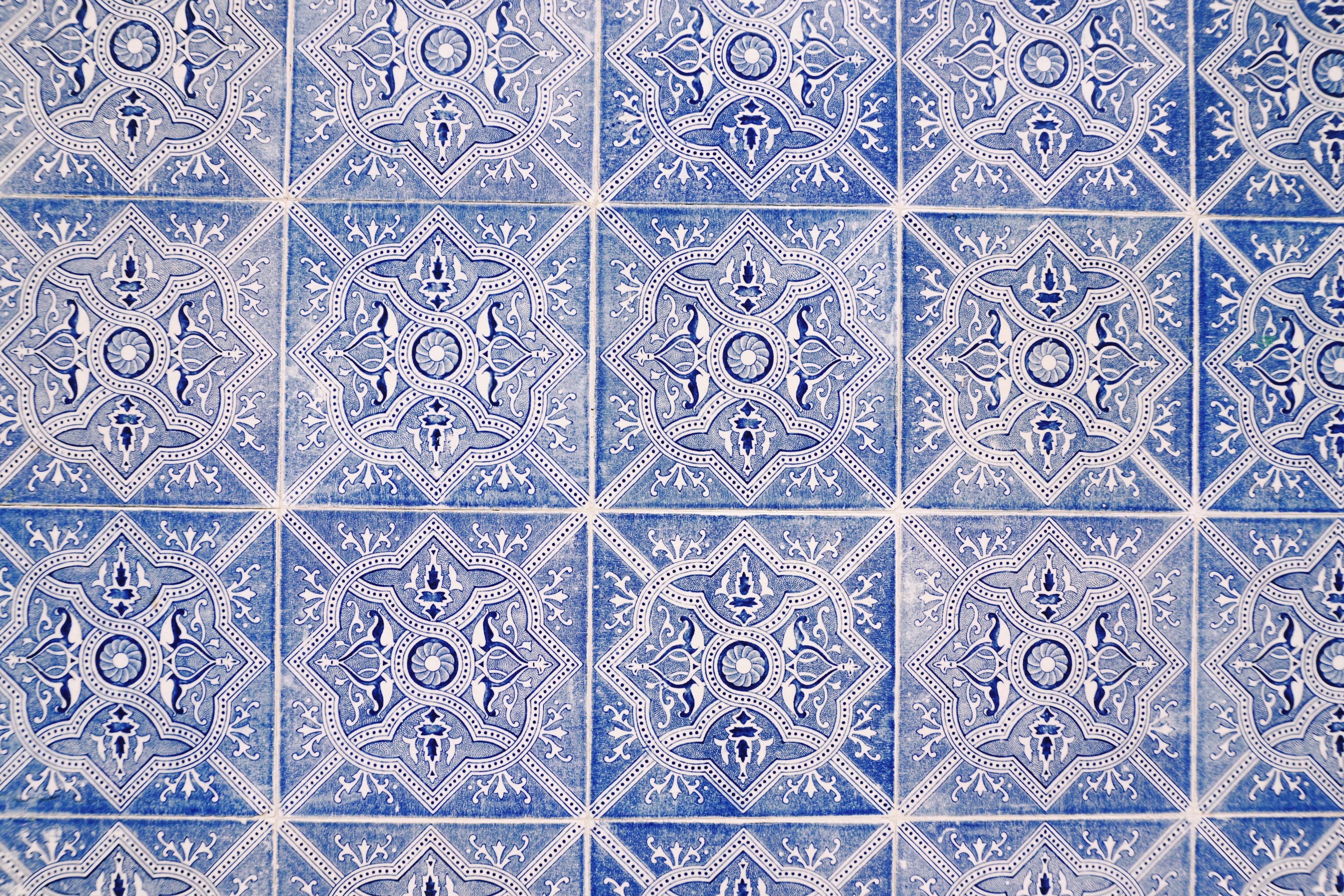 Traditional Portuguese tiles. Azulejos in the Algarve
