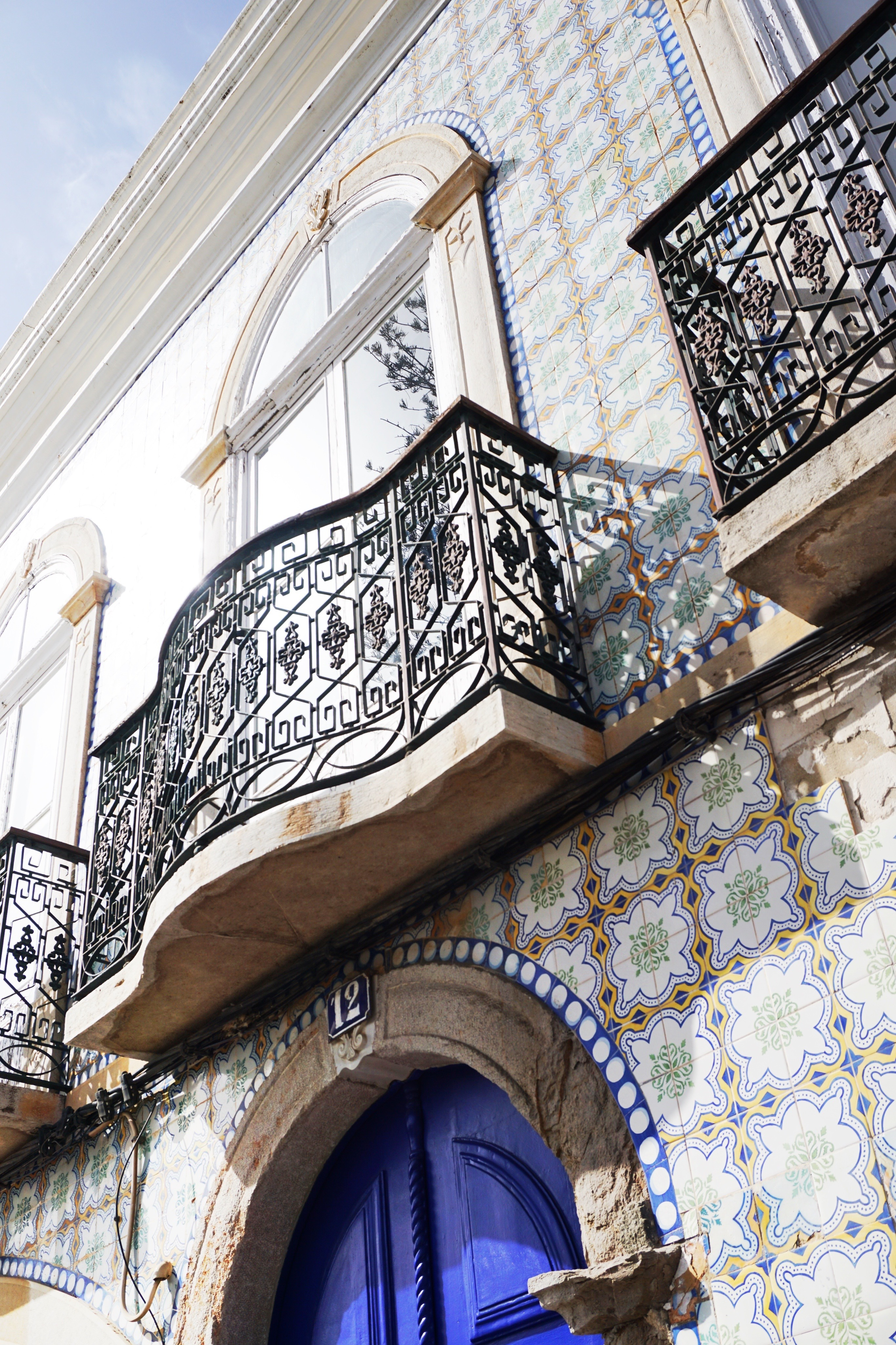 Beautiful tiled house in Tavira, Portugal.