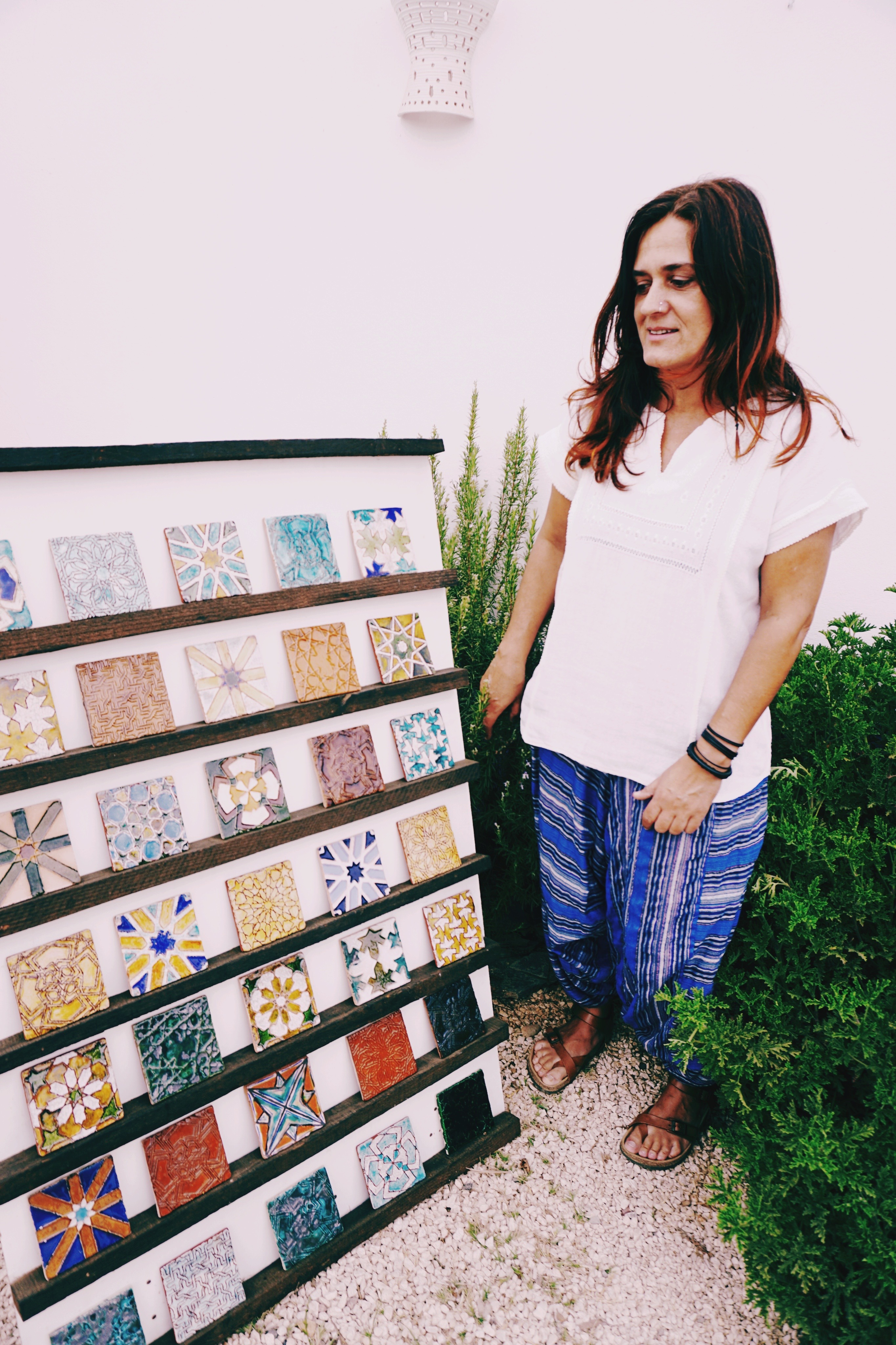 Rita Silvério Morais - a Portuguese artist with her work of intricately detailed Azulejos