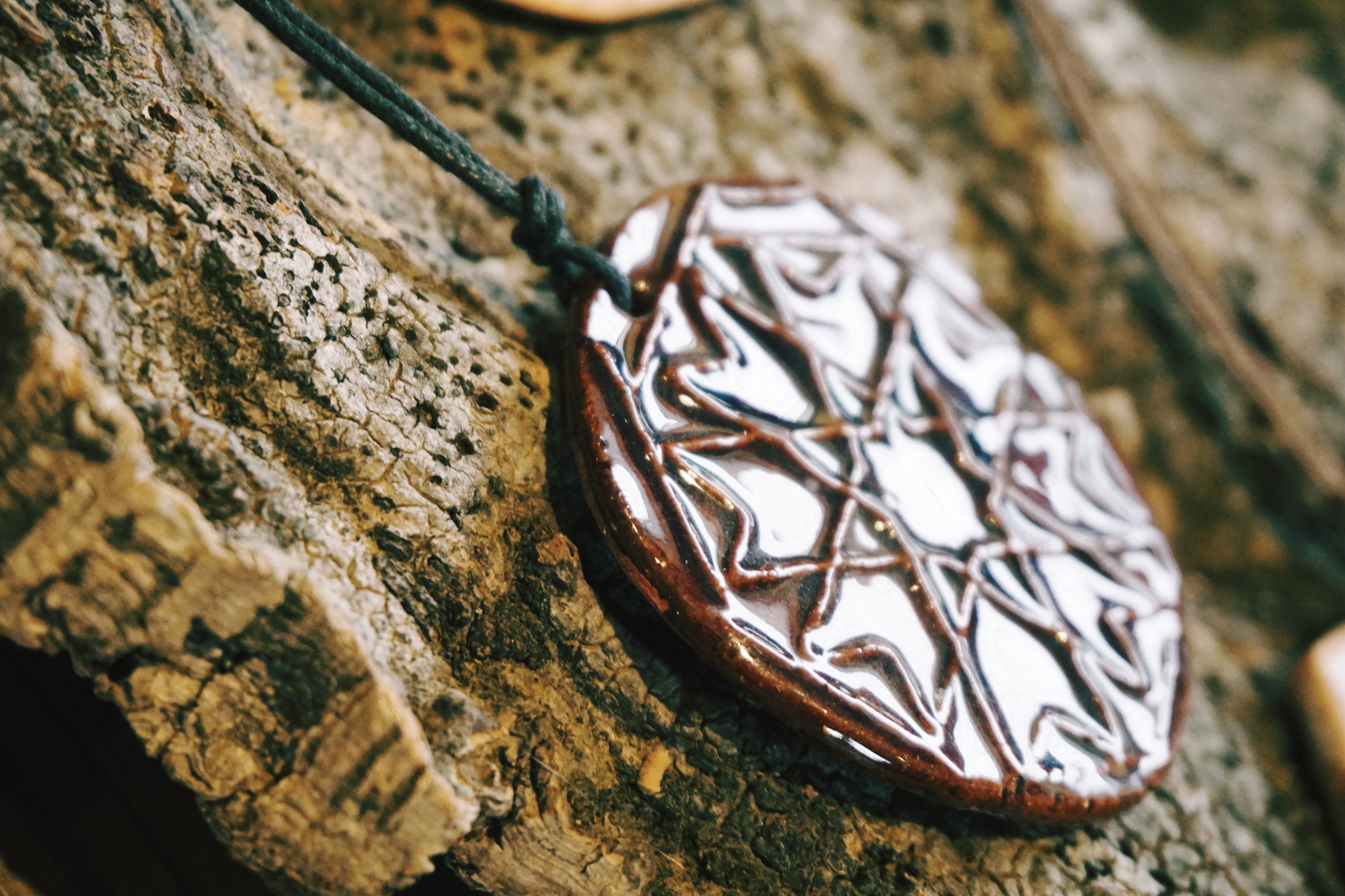 Geometric pendant necklace from the Alentejo