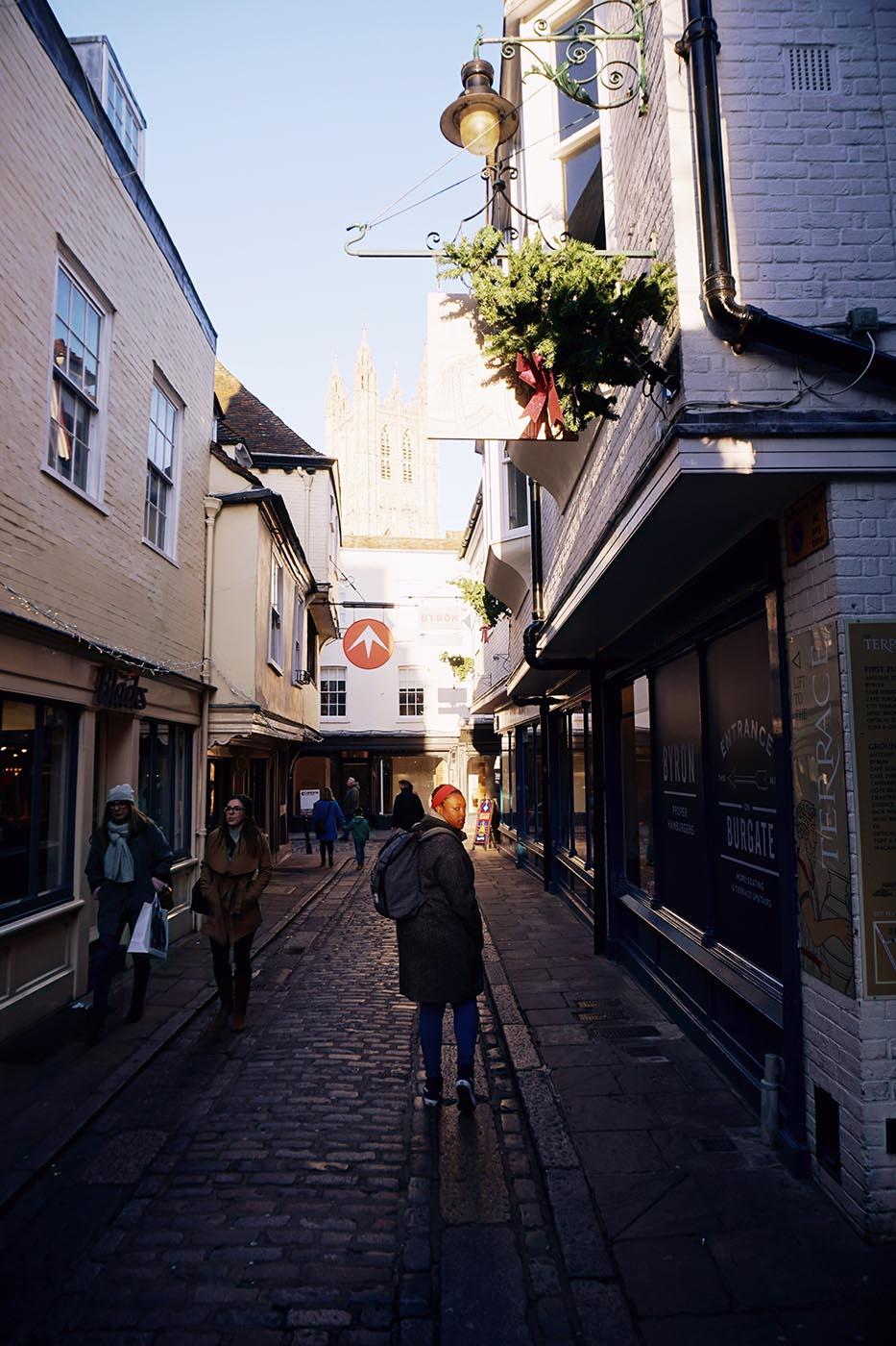 Walking around Canterbury