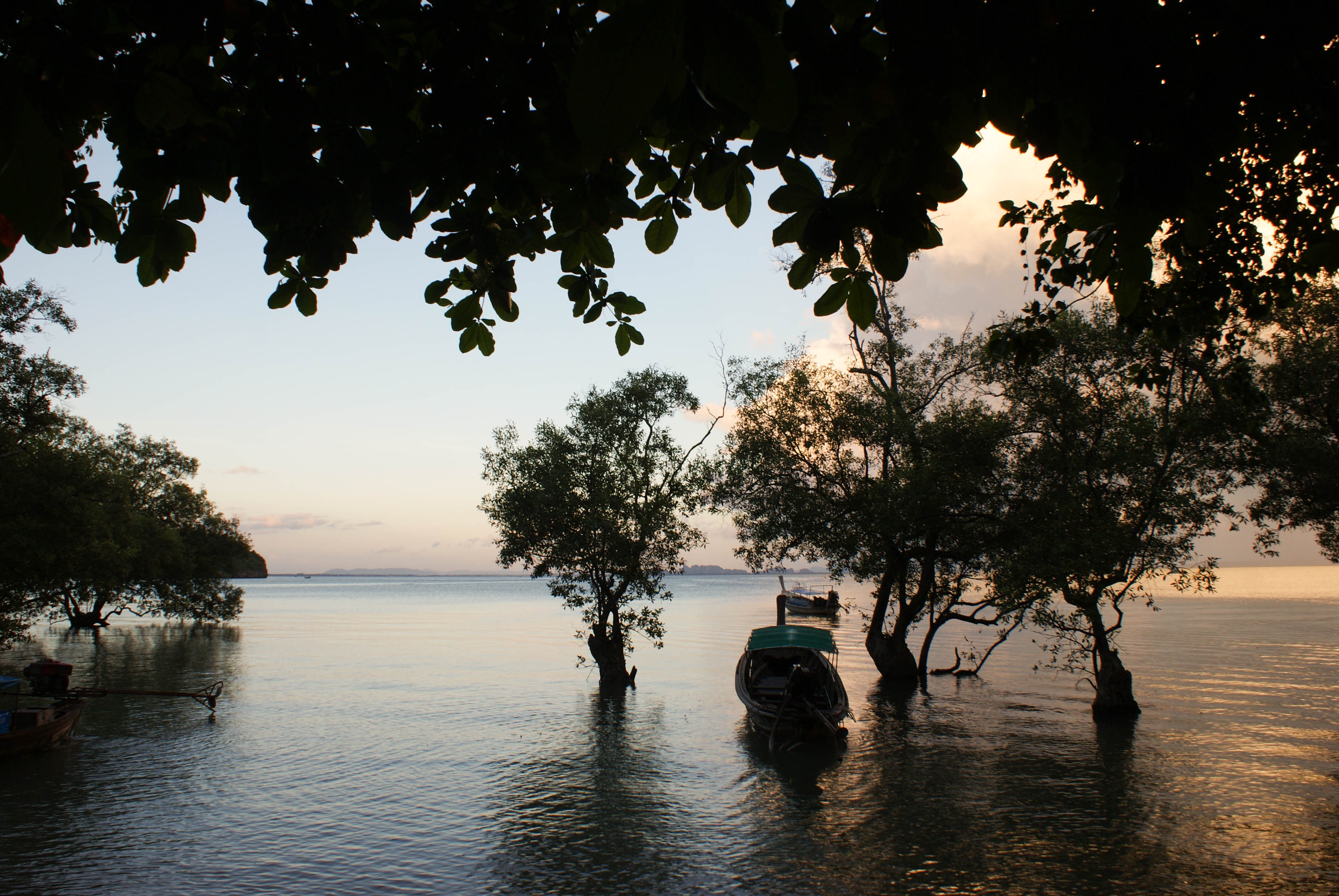 Postcards from Thailand: Railay, Krabi Photo Journal - billowing clouds and mangroves in Railay east