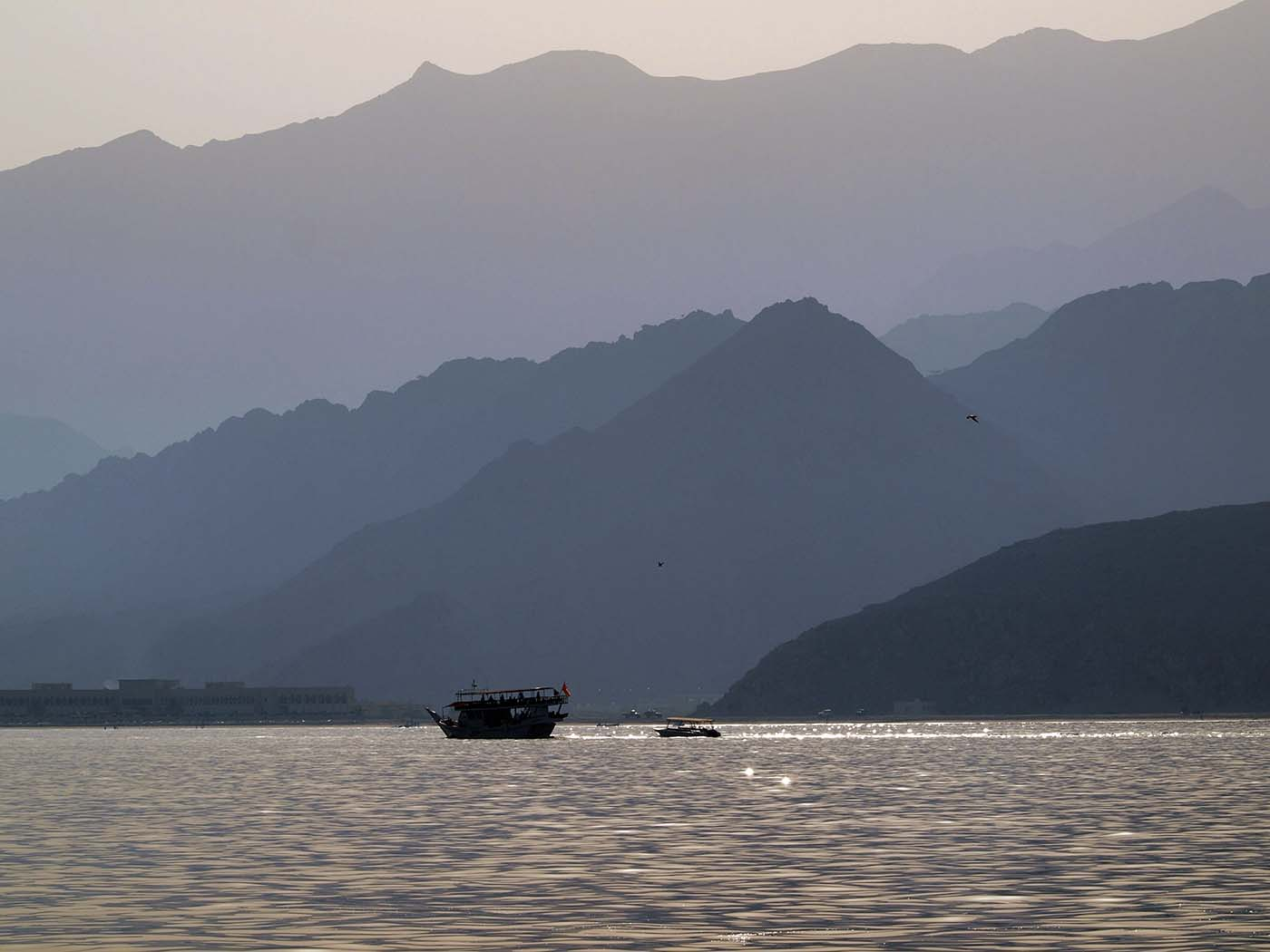 Sailing from Dibba in the Musandam, Oman